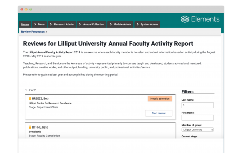 Faculty Activity Reporting 33